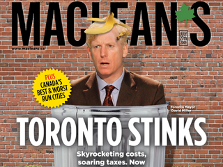 Toronto's mayor on the cover of <i>Maclean's</i> magazine