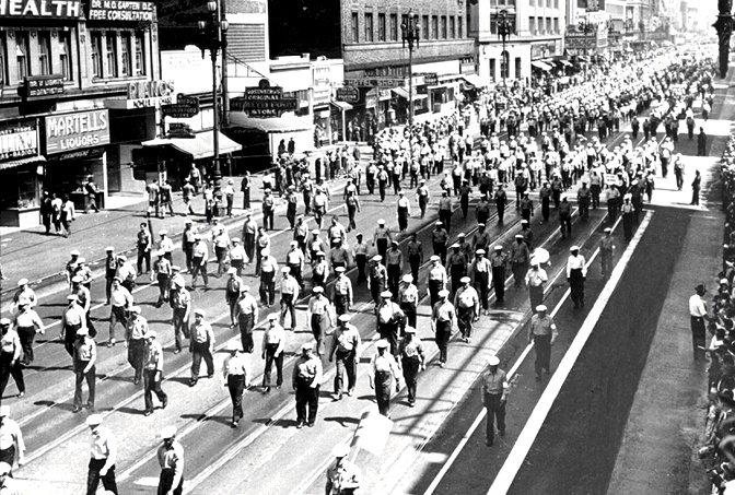 Marching Longshoreman in San Francisco (1934)