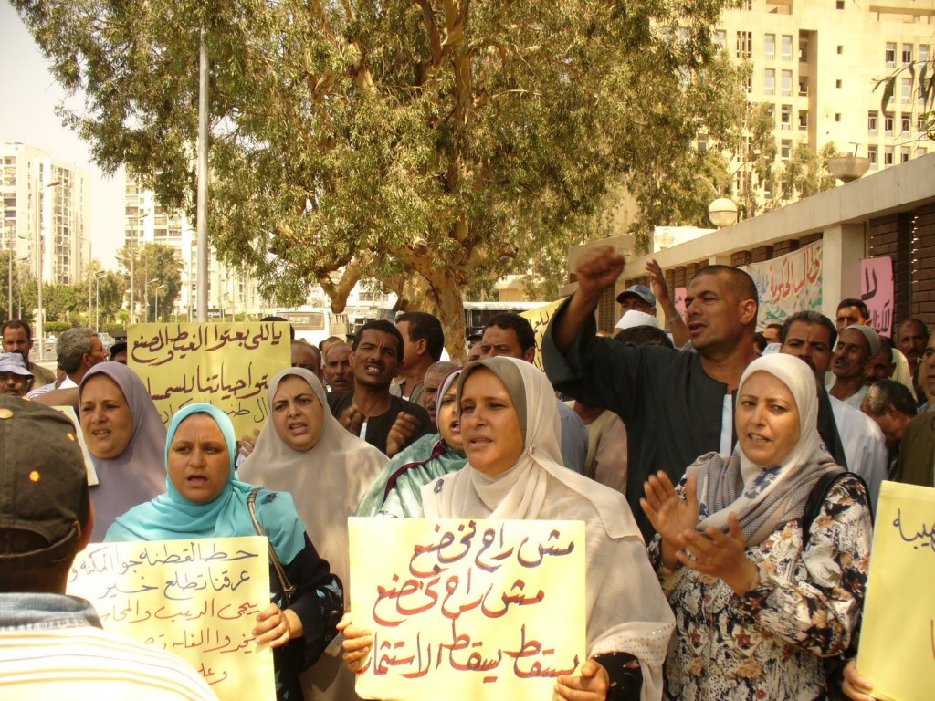 Around 200 workers from the Tanta Flax and Oils Company staged a demonstration outside the Ministry of Manpower and Immigration in Cairo yesterday, marking the 80th day of their strike, demanding the re-nationalization of their company. Hundreds of their colleagues back in the Nile Delta have also announced their intention to launch a hunger strike as of tomorrow.