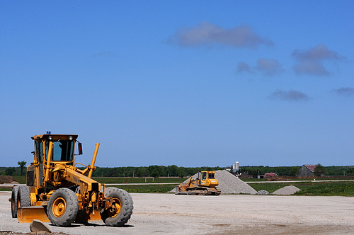 Prior construction in a section of the potential dump site