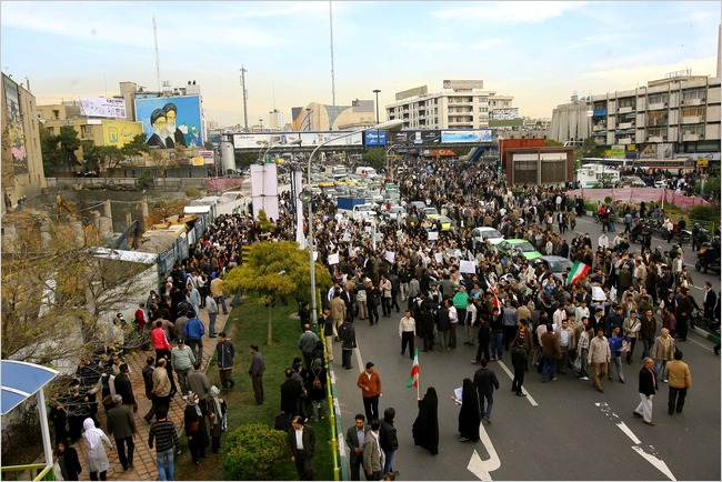 The Iranian opposition movement resumed mass street protests on Wednesday and faced a violent crackdown by the security forces, as official rallies mark the 30th anniversary of the storming of the US embassy in Tehran.