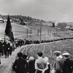 A march in Ådalen, Sweden, in 1931.