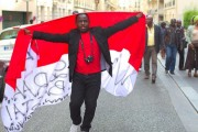Protest against Abdoulaye Wade in Paris, September, 2011. Photo by Gwenael Piaser, via Flickr.