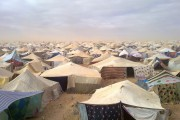 The Gdeim Izik protest camp outside the Moroccan-controlled Saharawi capital of El Aaiun in October 2011.