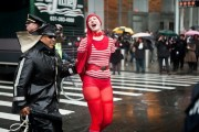 The arrest of a dancing clown in New York City on February 29.