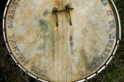 Pete Seeger's banjo, taken at the 2009 Clearwater festival. By Paul VanDerWerf, via Flickr.