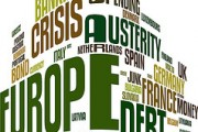 Europe debt crisis word cloud. By Vectorportal.com, via Flickr.