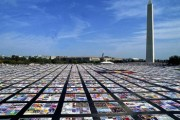 AIDS Memorial Quilt, via Wikimedia Commons.