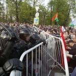 Riot police and protestors during the first March of Millions of May 6. Photo by Denis Sinyakov, Reuters.