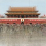 Tiananmen Square as rendered by the Swiss/French artist Corinne Vionnet from hundreds of tourist photos.