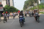 The cycle parade on the final day of Viet Pride in Hanoi. Photo courtesy of Information Connecting and Sharing (ICS).