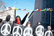 Image of Occupy Oakland protest on January 28. By Glenn Halog, via Flickr.