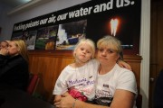Tammy Manning and her grandaughter Madison. (Shale Gas Outrage/JJ Tiziou)