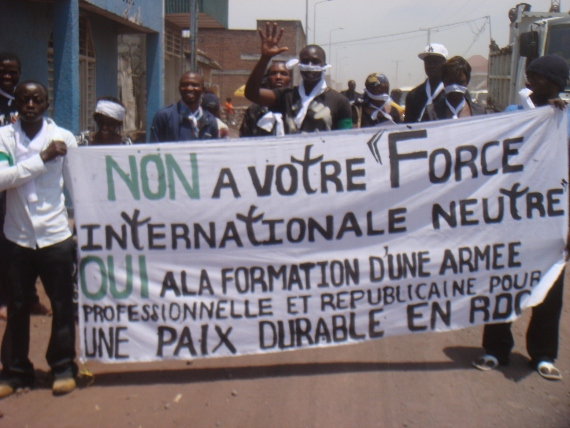 Congolese activists challenge violence on all sides