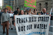 S17 Eco-Block marching New York's Financial District yesterday. Photo by John Duffy, http://duffernutter.photoshelter.com.