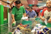 Spanish union members raid supermarket to feed the hungry. Via Daily Kos.