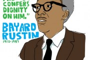 Poster of Bayard Rustin. (Flickr/Ari Moore)