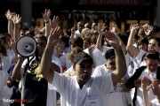 Healthcare workers protest austerity measures on September 13, 2012. (FotogrAccion)