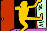 National Coming Out Day logo by Keith Haring. (Human Rights Campaign)