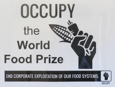 Food sovereignty advocates occupy the World Food Prize