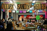 The Occupy Sandy Relief NYC distribution hub at Jacobi Church in Brooklyn. (Occupy Sandy Relief NYC Facebook page/Jenna Pope)