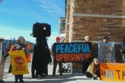 Tar sands opponents rallied in Salt Lake City on Monday as part of a week of solidarity actions.