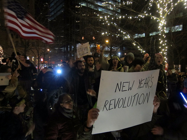 New Year's Eve 2011 in Zuccotti Park. (Flickr / Lynch)