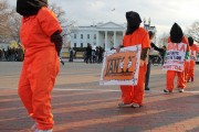 Witness Against Torture activists held a silent march in front of the White House earlier this year. (Flickr / Elvert Barnes)