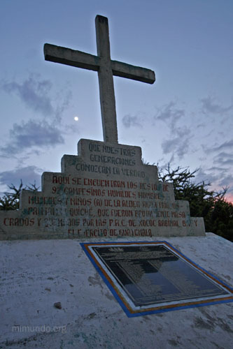 A monument commemorating the victims of the Agua Fria massacre in Guatemala. (MiMundo.org)