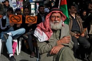 Joranian man at Jan. 18 protest in Amman. (WNV/Omar Alkalouti)