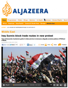 Screenshot from AlJazeera.com.