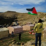 Overlooking the tents of Bab Al Shams in the West Bank. (WNV/Andrew Beale)