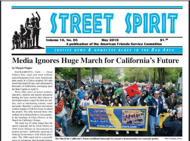 The cover of the May 2010 issue of Street Spirit. (thestreetspirit.org)