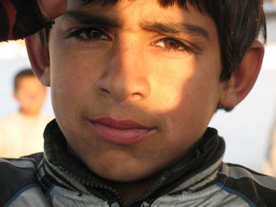 A boy living at the Darlaman Refugee Camp.