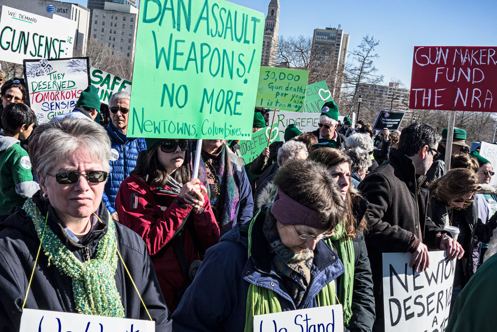 A march for gun control in Hartford, Connecticut on February 14. (Photoshop.com/Into_the_woods)