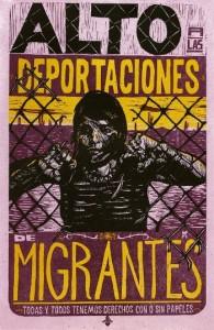 "Poster: ""Halt deportations for migrants."" (Puente Arizona)"
