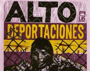 "Poster: ""Halt deportations of migrants."" (Facebook/Puente Arizona)"