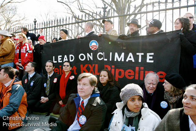 48 environmental, civil rights, community leaders, and celebrities gathered for a civil disobedience action at the White House on Feb. 13, 2013. (Flickr/Shadia Fayne Wood)