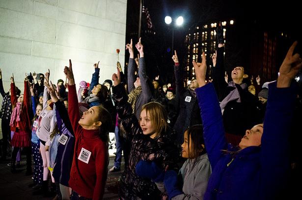 One Billion Rising event in New York City on February 14. (Flickr/Marnie Joyce)