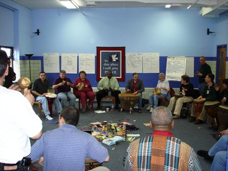 A restorative justice peace circle at the Precious Blood Ministry of Reconciliation in Chicago. (http://pbmr.org)