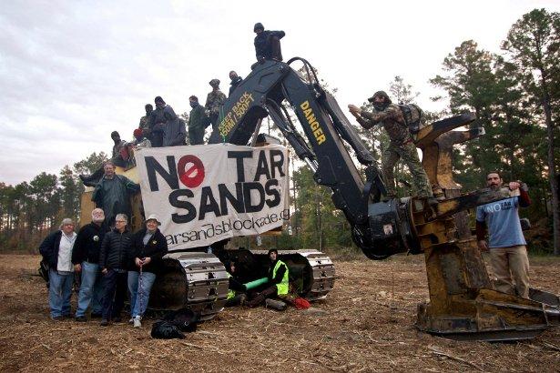 The Texas Tar Sands Blockade in November 2012. (Facebook/Tar Sands Blockade)