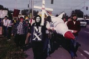 """The Way of the Nuclear Cross,"" anti-nuclear procession, on April 1, 1983, at Lawrence Livermore National Laboratory. (WNV/Jim Butigan)"
