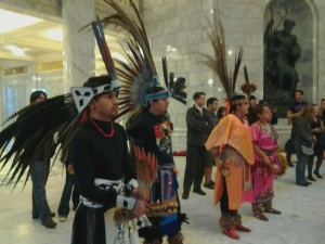 Indigenous Mexicans took part in the round dance.