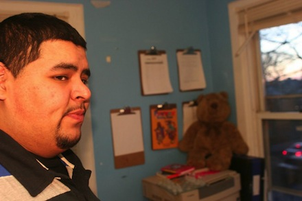 Luis Casco, a resident of Far Rockaway, has been one of the main organizers of community initiatives post-Sandy. (Peter Rugh / WNV)