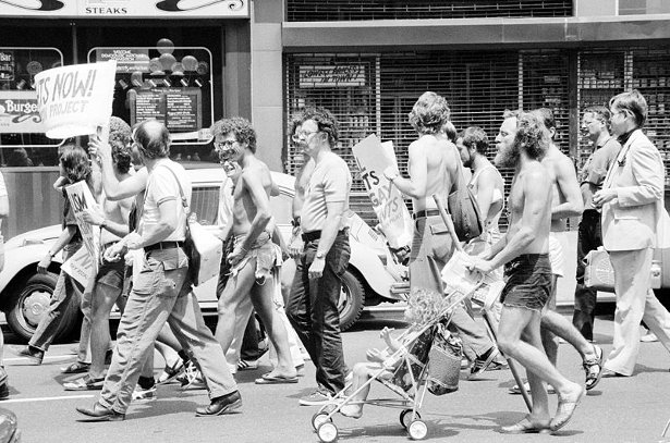 Gay rights demonstration at the Democratic National Convention in New York City on July 11, 1976. (Wikimedia Commons/U.S. News & World Report)