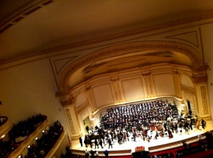 "Benjamin Britten's ""War Requiem"" was performed last night at Carnegie Hall by the Oratorio Society of New York. (WNV/Nathan Schneider)"