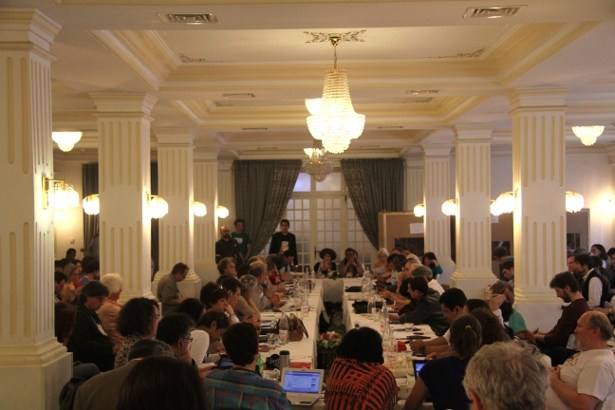 The International Council of the World Social Forum meets in downtown Tunis. (WNV/Marisa Holmes)
