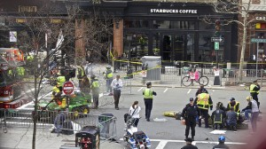 The aftermath of the bombing of the Boston marathon last month. (Flickr/Rebecca Hildreth)