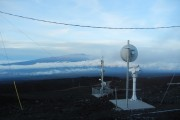 The view from Mauna Loa Observatory in Hawaii, where atmospheric research has been conducted since the 1950s. (Waging Nonviolence/Bryan Farrell)