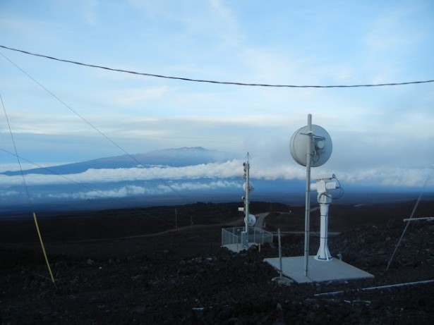 The view from Mauna Loa Observatory in Hawaii, where atmospheric research has been conducted since the 1950s. (WNV/Bryan Farrell)